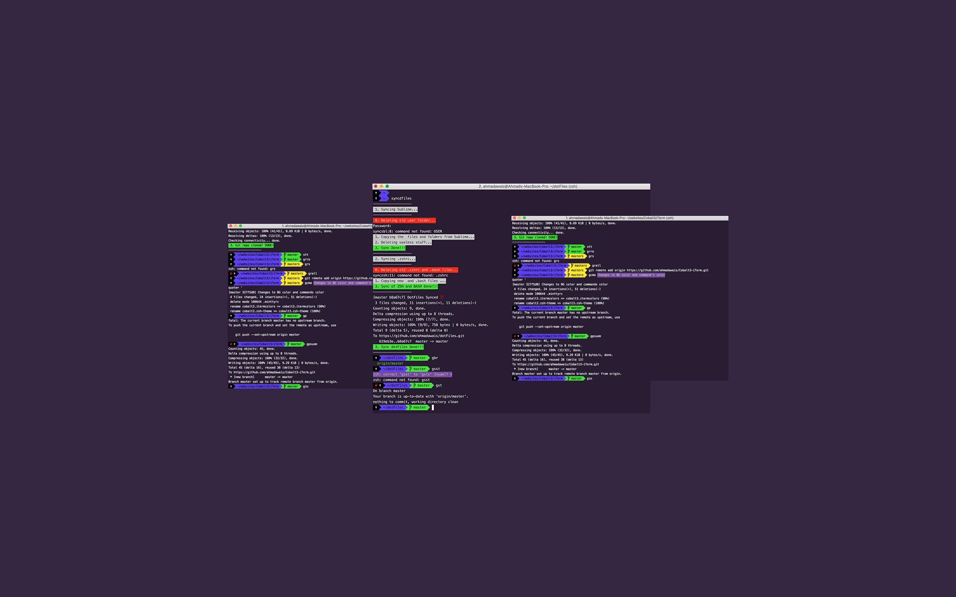 Cobalt3 Theme for iTerm2 and ZSH Shell - LABS by Ahmad Awais
