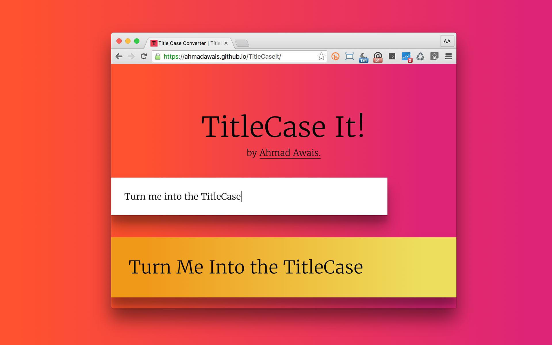 TitleCaseIt Live